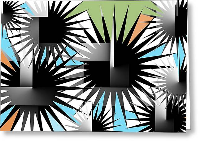 Recently Sold -  - Geometrical Art Greeting Cards - Spiky Beauty 4 Greeting Card by Raul Ugarte