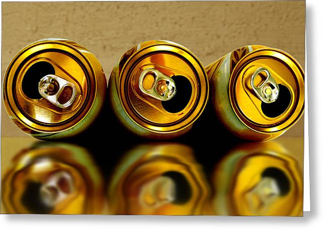 Weizenbier Greeting Cards - Spilled Beer Greeting Card by Carlos Vieira
