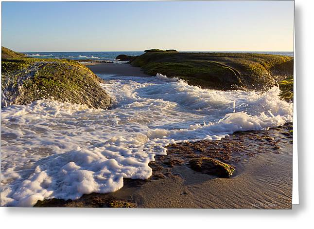 Ocean Art Photos Greeting Cards - Spilled Milk Greeting Card by Heidi Smith