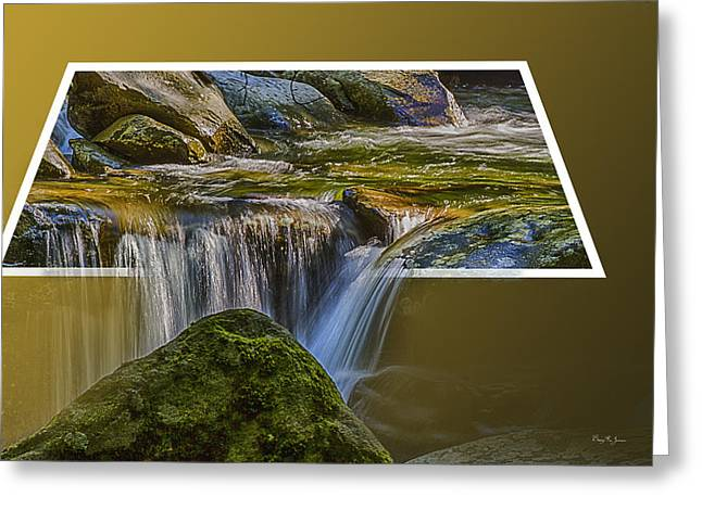 Stream Digital Art Greeting Cards - Landscape - Mountain - Spillover  Greeting Card by Barry Jones