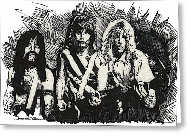 Bad Drawing Drawings Greeting Cards - Spinal Tap Greeting Card by Jerrett Dornbusch