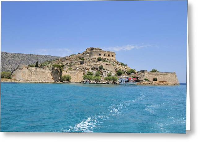 Turquois Greeting Cards - Spinalonga island Crete Greece Greeting Card by Matthias Hauser