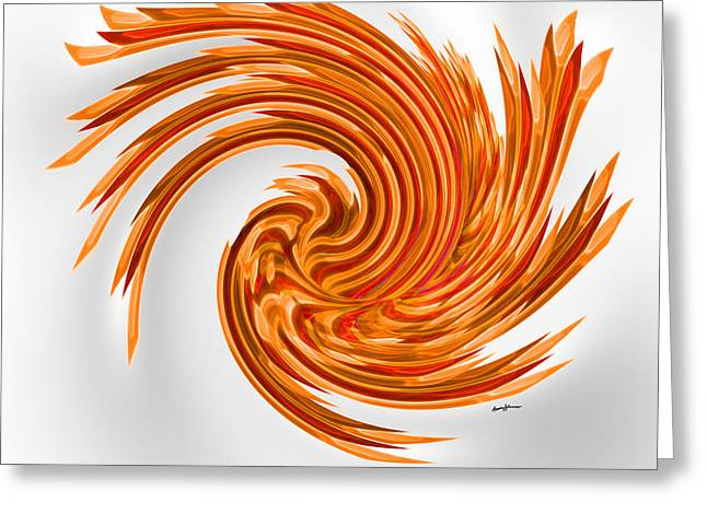 Squeeze Greeting Cards - SpinArt Greeting Card by Anthony Caruso