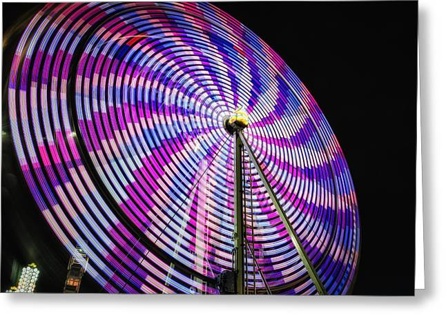 Exposure Greeting Cards - Spinning Disk Greeting Card by Joan Carroll