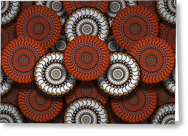 Gears Wheel Greeting Cards - Spinning in Harmony  Greeting Card by Mike McGlothlen