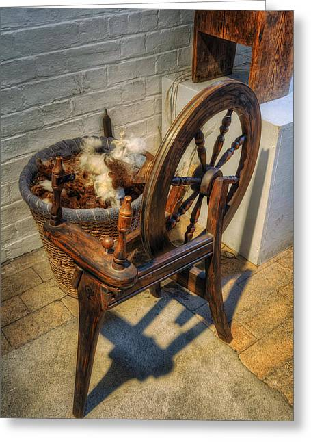 Spindle Greeting Cards - Spinning Wheel Greeting Card by Ian Mitchell