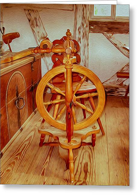 Owfotografik Greeting Cards - Spinning Wheel Greeting Card by Omaste Witkowski
