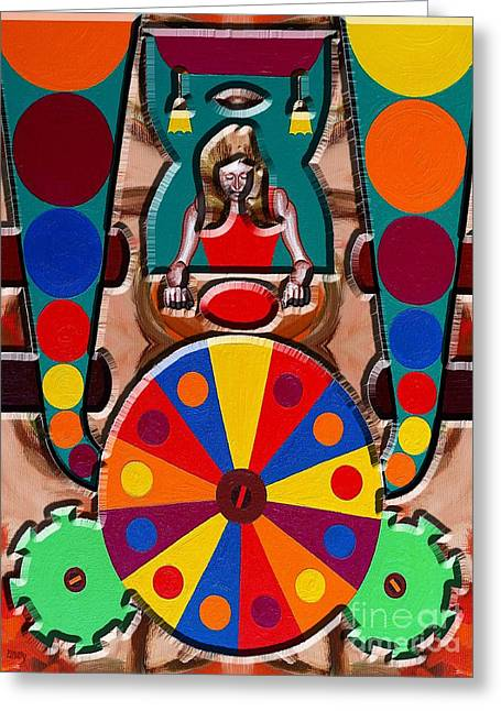 Roulettes Greeting Cards - Spinning Wheel Greeting Card by Patrick J Murphy