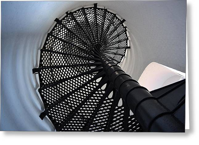 Vertigo Greeting Cards - Spiral Greeting Card by Alan Seelye-James