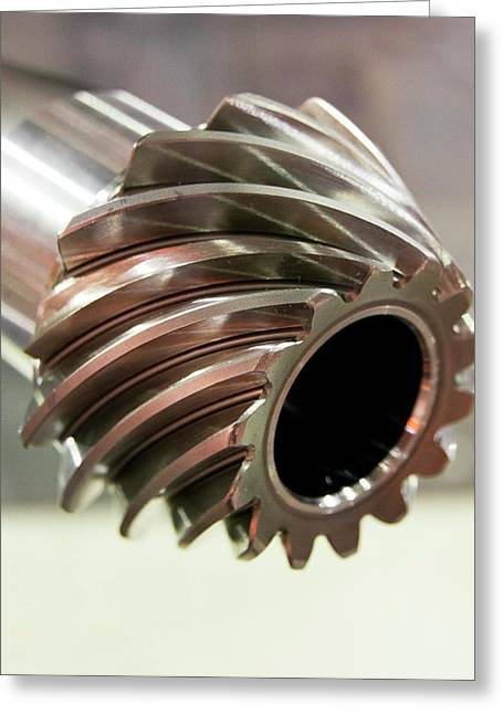 Spiral Bevel Gear Greeting Card by Mark Williamson