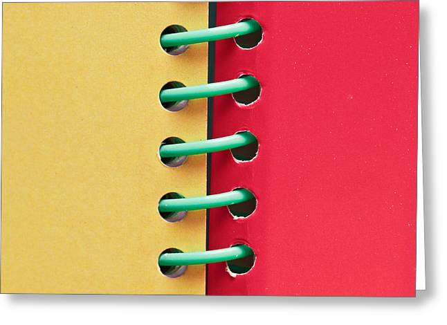 Diary Greeting Cards - Spiral bound book Greeting Card by Tom Gowanlock