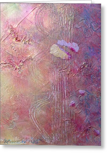 Heartbeat Mixed Media Greeting Cards - Spiral breath Greeting Card by Catherine Rucker