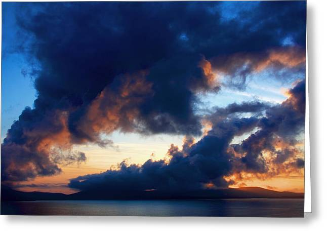 Sunset Prints Greeting Cards - Spiral Clouds Greeting Card by Aidan Moran