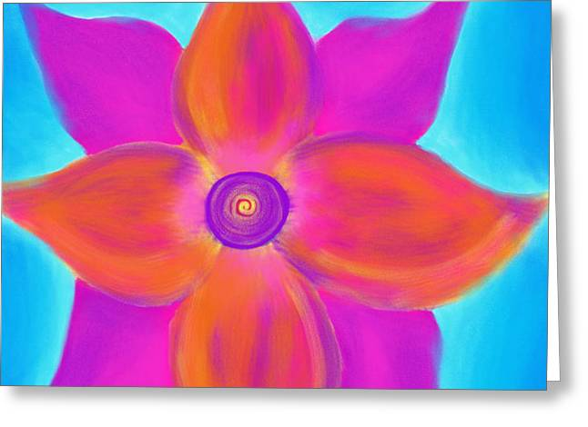 Spiral Flower Greeting Card by Daina White