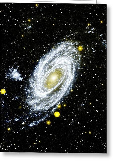 Celestial Bodies Greeting Cards - Spiral Galaxy Greeting Card by Benjamin Yeager