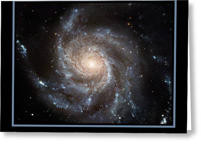 Light-years Greeting Cards - Spiral Galaxy M101 Greeting Card by Adam Mateo Fierro