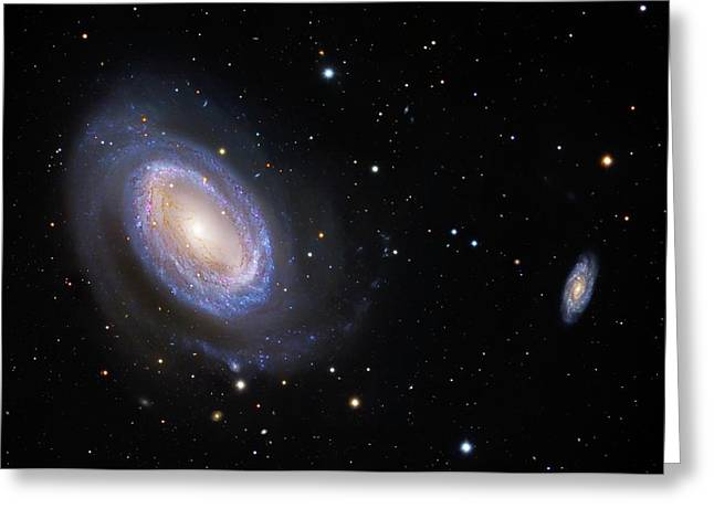Spiral Galaxy Ngc 4725 Greeting Card by Robert Gendler