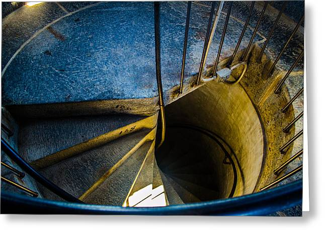 Spiral Into The Light Greeting Card by Jeff Ortakales