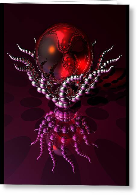 Sci-fi Greeting Cards - Spiral Jelly  Greeting Card by Ann Stretton