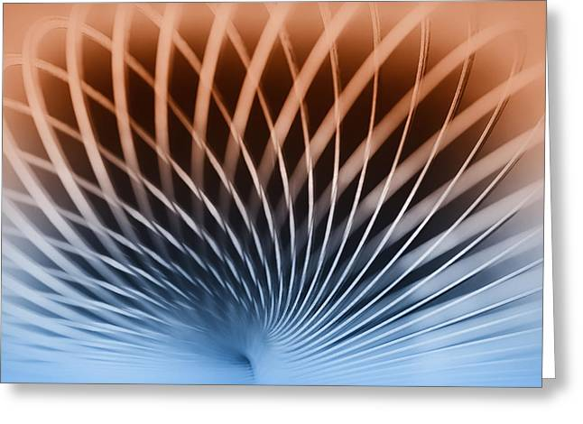 Harmonic Motions Greeting Cards - Spiral Greeting Card by Larry Helms