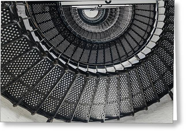 Grate Greeting Cards - Spiral Greeting Card by Laszlo Prising