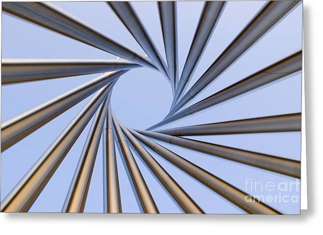 Installation Art Greeting Cards - Spiral Metal Sculpture At Fermila Greeting Card by Mark Williamson