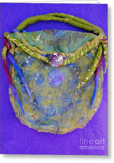 Clutch Bag Greeting Cards - Spiral Moss Bag Greeting Card by Mirinda Reynolds