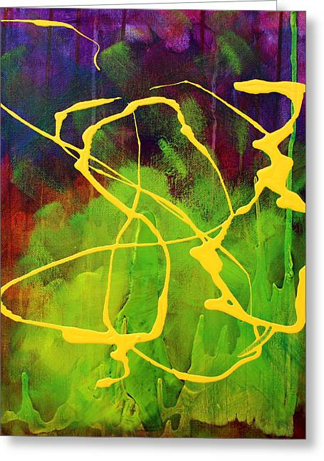 Free Form Paintings Greeting Cards - Spiral Greeting Card by Nancy Merkle