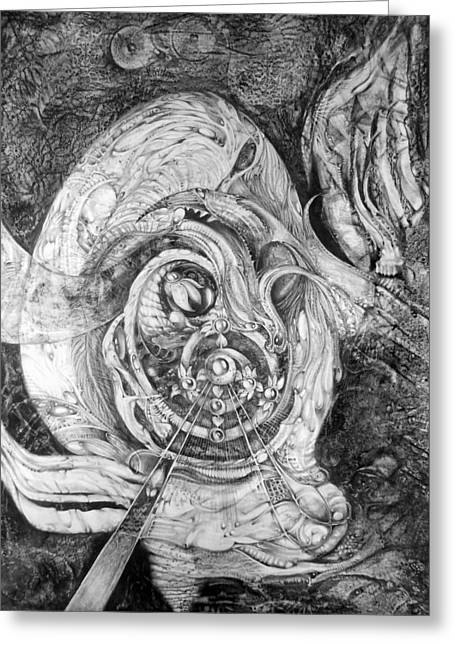 Mystic Drawings Greeting Cards - Spiral Rapture 2 Greeting Card by Otto Rapp