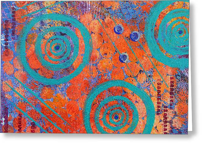 Spirals Greeting Cards - Spiral Series - Continual Greeting Card by Moon Stumpp