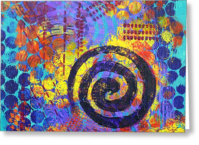 Playful Greeting Cards - Spiral Series - Voice Greeting Card by Moon Stumpp
