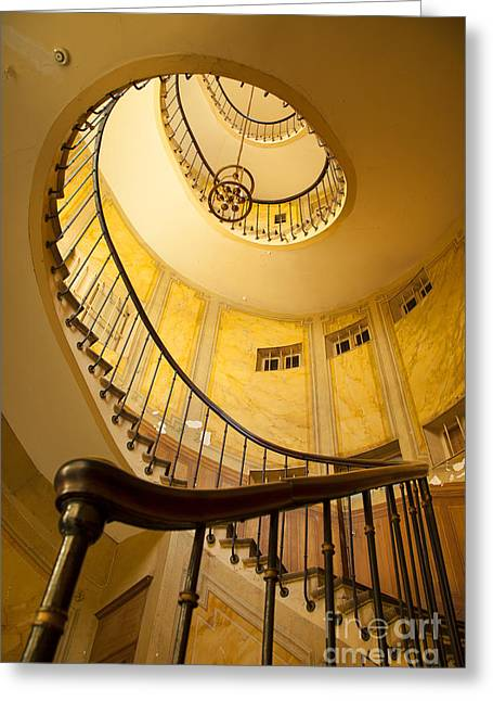 Spiral Staircase Greeting Cards - Spiral Staircase Greeting Card by Brian Jannsen