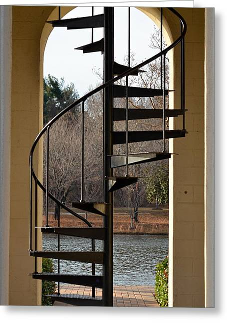 Furman Greeting Cards - Spiral Staircase Greeting Card by Corinne Rhode