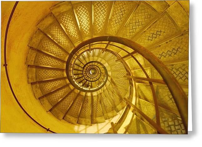 Vertigo Greeting Cards - Spiral Staircase Greeting Card by Don Hammond
