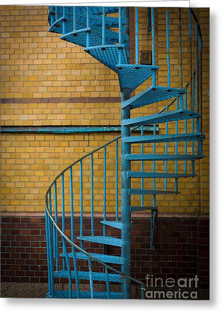 Spiral Staircase Greeting Cards - Spiral Staircase Greeting Card by Inge Johnsson