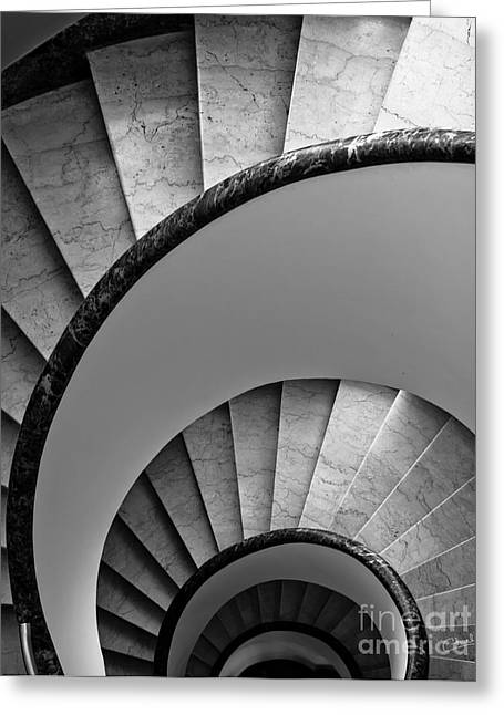 Charly Greeting Cards - Spiral Staircase Greeting Card by Prints of Italy