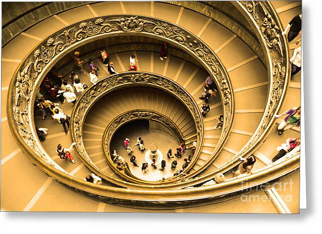 Curled Up Greeting Cards - Spiral Staircase Greeting Card by Stefano Senise
