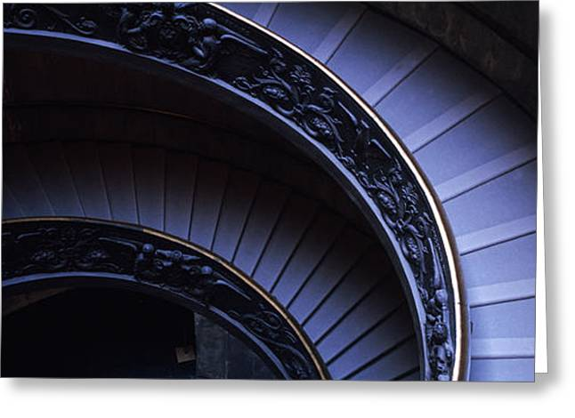 Descend Greeting Cards - Spiral Staircase, Vatican Museum, Rome Greeting Card by Panoramic Images