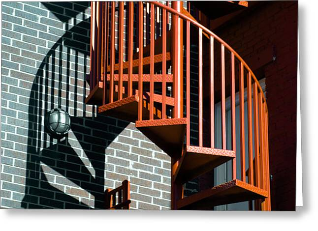 Spiral Stairs - color Greeting Card by Darryl Dalton