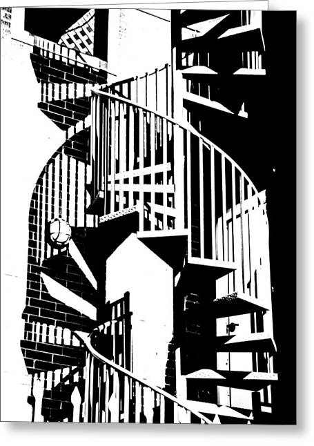 Spiral Stairs Greeting Card by Darryl Dalton