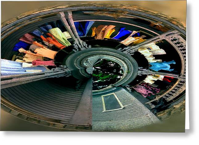 Washlines Greeting Cards - Spiral Washline Greeting Card by Wayne King