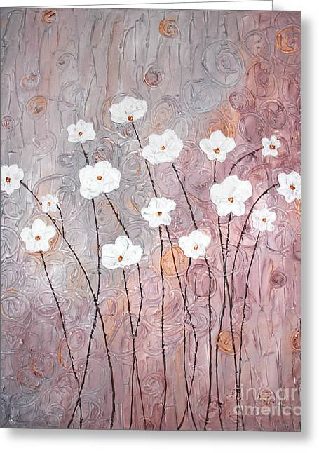 Home Art Greeting Cards - Spiral whites Greeting Card by Home Art
