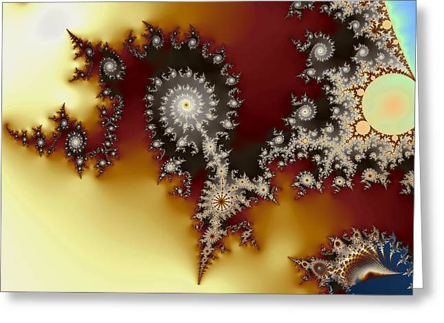 Element90 Greeting Cards - Spirals and Luminosiry Greeting Card by Mark Eggleston