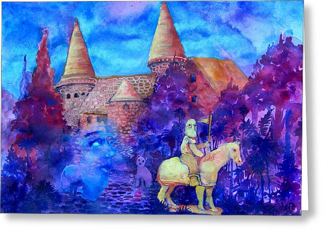 Knights Castle Mixed Media Greeting Cards - Spires Greeting Card by James Huntley