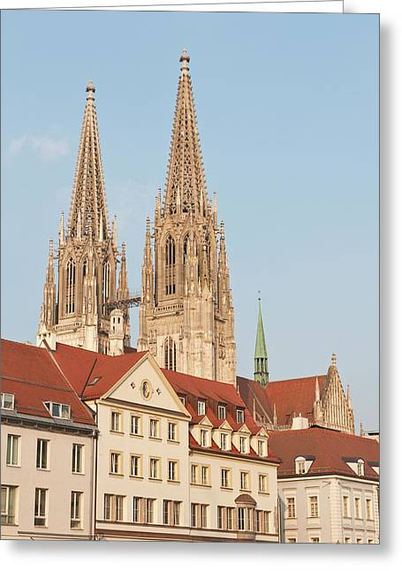 Spires Of St Peter's Cathedral Greeting Card by Michael Defreitas