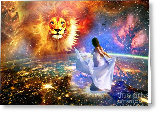 Judah Greeting Cards - Spirit and Truth Greeting Card by Dolores Develde