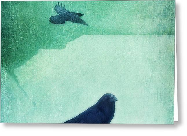 spirit bird Greeting Card by Priska Wettstein