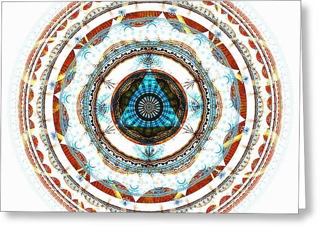 Self Growth Greeting Cards - Spirit Circle Greeting Card by Anastasiya Malakhova