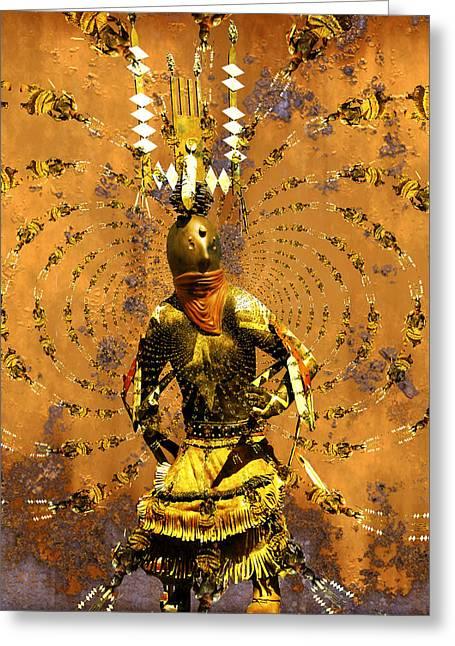 Kachina Greeting Cards - Spirit Dance Greeting Card by Kurt Van Wagner