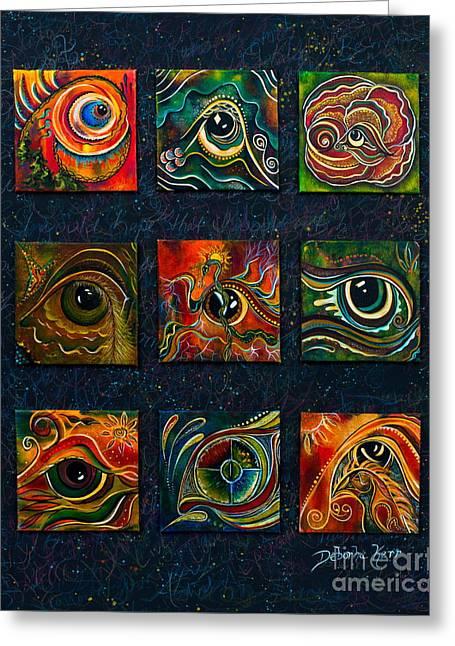 Brow Chakra Greeting Cards - Spirit Eye Collection I Greeting Card by Deborha Kerr